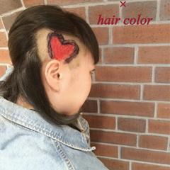 ハイライト 暗髪 グラデーションカラー ヘアアレンジ ヘアスタイルや髪型の写真・画像