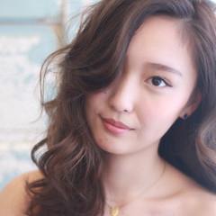 アッシュ 外国人風 ブラウン セミロング ヘアスタイルや髪型の写真・画像