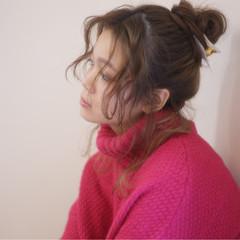 ヘアアレンジ お団子 ルーズ ロング ヘアスタイルや髪型の写真・画像