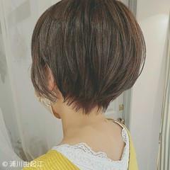 秋 極細ハイライト 大人かわいい ボーイッシュ ヘアスタイルや髪型の写真・画像
