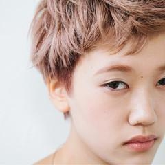 モード ピンクアッシュ 大人かわいい ショート ヘアスタイルや髪型の写真・画像