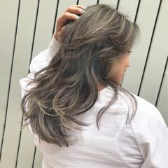 ハイライト 黒髪 ナチュラル ロング ヘアスタイルや髪型の写真・画像