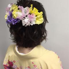 ボブ 袴 フェミニン 謝恩会 ヘアスタイルや髪型の写真・画像
