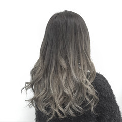 グラデーションカラー 外国人風 ロング アッシュ ヘアスタイルや髪型の写真・画像