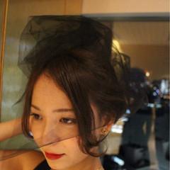 アッシュ ヘアアレンジ 外国人風 ミディアム ヘアスタイルや髪型の写真・画像