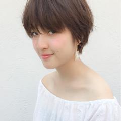 ルーズ ガーリー ショートボブ ピュア ヘアスタイルや髪型の写真・画像