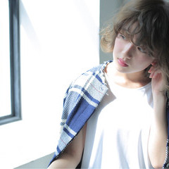 パーマ ボブ 色気 ハイライト ヘアスタイルや髪型の写真・画像