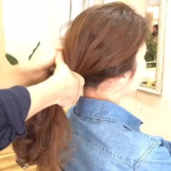 ショート ブラウン セミロング ハイライト ヘアスタイルや髪型の写真・画像