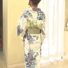 花火大会 アップスタイル ヘアアレンジ 夏 ヘアスタイルや髪型の写真・画像