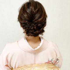 結婚式 訪問着 着物 結婚式ヘアアレンジ ヘアスタイルや髪型の写真・画像