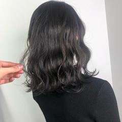 透け感 ミディアム ナチュラル ベージュ ヘアスタイルや髪型の写真・画像