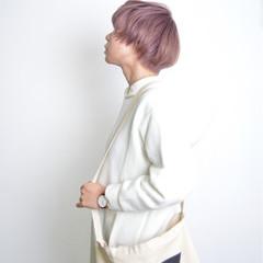 ピンクアッシュ ピンク ラベンダーピンク レッド ヘアスタイルや髪型の写真・画像