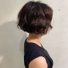ボブ  パーマ ボブ ヘアスタイルや髪型の写真・画像