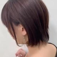 ショートヘア ミニボブ ショート 耳掛けショート ヘアスタイルや髪型の写真・画像