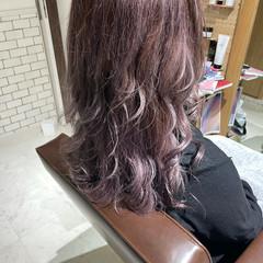 モード グラデーションカラー セミロング ヘアスタイルや髪型の写真・画像