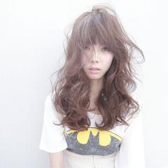 ハイライト フェミニン ロング 外国人風 ヘアスタイルや髪型の写真・画像