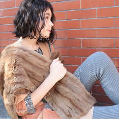 モード 外国人風 くせ毛風 ボブ ヘアスタイルや髪型の写真・画像