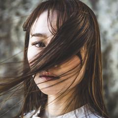 大人ハイライト ロング ベージュ ナチュラルベージュ ヘアスタイルや髪型の写真・画像