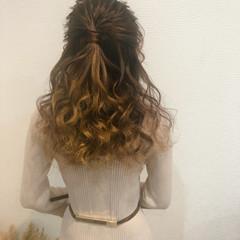ハーフアップ 結婚式 ヘアアレンジ ヘアセット ヘアスタイルや髪型の写真・画像