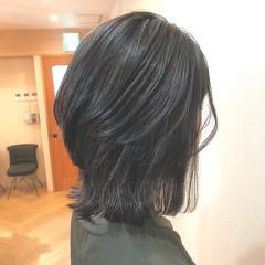 ナチュラル セミロング アディクシーカラー 極細ハイライト ヘアスタイルや髪型の写真・画像
