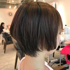 ナチュラル ショートボブ 黒髪 ショート ヘアスタイルや髪型の写真・画像