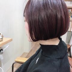 切りっぱなしボブ ショートヘア ベリーショート ミニボブ ヘアスタイルや髪型の写真・画像