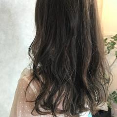 アッシュベージュ グレージュ ハイライト ブラウンベージュ ヘアスタイルや髪型の写真・画像