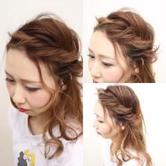 簡単ヘアアレンジ ヘアアレンジ グラデーションカラー ハイライト ヘアスタイルや髪型の写真・画像