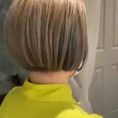 モード グラデーションカラー ゆるふわ ボブ ヘアスタイルや髪型の写真・画像