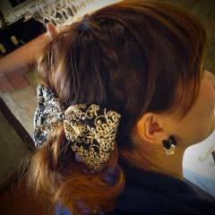 モテ髪 まとめ髪 編み込み パーティ ヘアスタイルや髪型の写真・画像