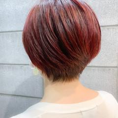ショート モード ショートヘア ストレート ヘアスタイルや髪型の写真・画像