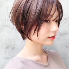 アンニュイほつれヘア ナチュラル ショートヘア ショートボブ ヘアスタイルや髪型の写真・画像