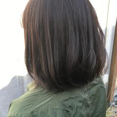 イルミナカラー ミディアム 艶髪 ナチュラル ヘアスタイルや髪型の写真・画像