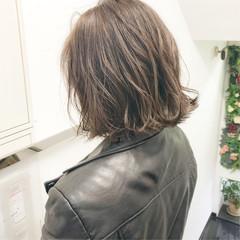 ナチュラル デート 切りっぱなし 簡単ヘアアレンジ ヘアスタイルや髪型の写真・画像