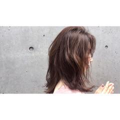 透明感 ミディアム ナチュラル ニュアンス ヘアスタイルや髪型の写真・画像