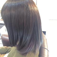 かわいい ストリート インナーカラー パープル ヘアスタイルや髪型の写真・画像