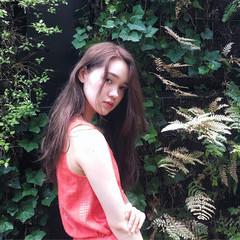 ブラウン 外国人風 グレージュ ロング ヘアスタイルや髪型の写真・画像