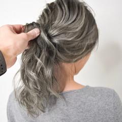 バレイヤージュ 簡単ヘアアレンジ ハイライト 外国人風カラー ヘアスタイルや髪型の写真・画像