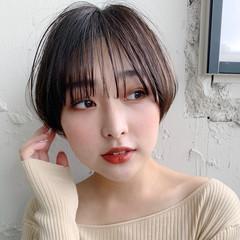 ショート アンニュイほつれヘア デート 結婚式 ヘアスタイルや髪型の写真・画像