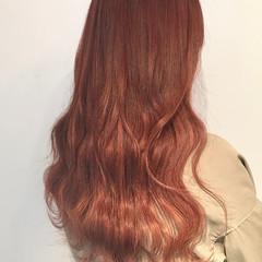 グラデーション ピンク 名古屋市 エクステ ヘアスタイルや髪型の写真・画像