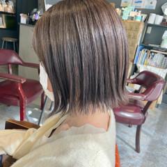 ボブ グレージュ 透明感カラー ショートボブ ヘアスタイルや髪型の写真・画像