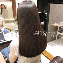 最新トリートメント 美髪 縮毛矯正 ロング ヘアスタイルや髪型の写真・画像