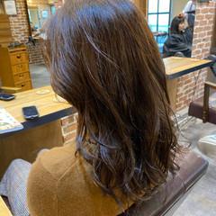 小顔ヘア ナチュラル デジタルパーマ ロングヘア ヘアスタイルや髪型の写真・画像