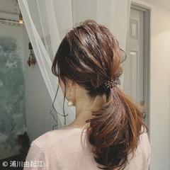 ヘアアレンジ デート ゆるふわ 大人かわいい ヘアスタイルや髪型の写真・画像