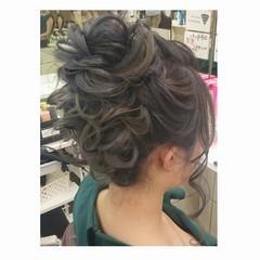 結婚式 セミロング 大人かわいい 秋 ヘアスタイルや髪型の写真・画像