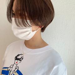 ナチュラル ショートヘア ショート ハンサムボブ ヘアスタイルや髪型の写真・画像