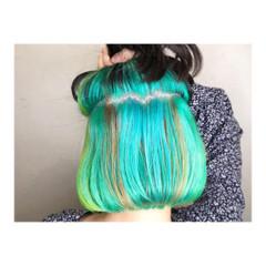 ハイトーンカラー ガーリー ハイトーン ボブ ヘアスタイルや髪型の写真・画像