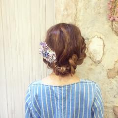 ヘアアレンジ ロープ編み ゆるふわ 簡単ヘアアレンジ ヘアスタイルや髪型の写真・画像