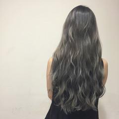グラデーションカラー ロング 外国人風 ガーリー ヘアスタイルや髪型の写真・画像