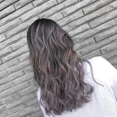 外国人風 ストリート グレージュ バレイヤージュ ヘアスタイルや髪型の写真・画像